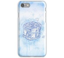 Boxed Mime (Blue) iPhone Case/Skin