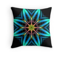 Must Be Dreaming - Interplanetary Flower  Throw Pillow