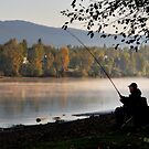 Fishing at dawn by MaluC