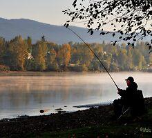 Fishing at dawn by MaluC