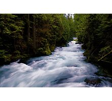 McKenzie River below Sahalie Falls Photographic Print