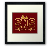 Sunnydale Highschool Framed Print