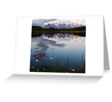 Evening Mirror Greeting Card