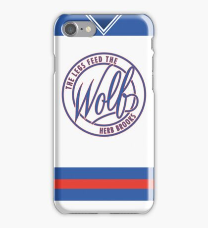 Feed The Wolf (Jersey) iPhone Case/Skin