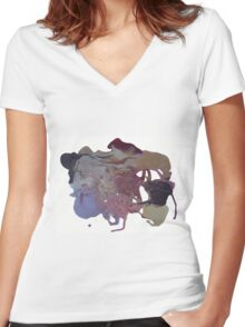 Mickey Mouse Fondue Women's Fitted V-Neck T-Shirt