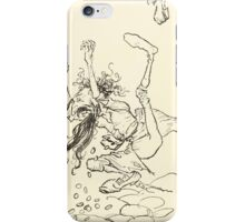 Snowdrop & Other Tales by Jacob Grimm art Arthur Rackham 1920 0048 The Dancing Jew iPhone Case/Skin