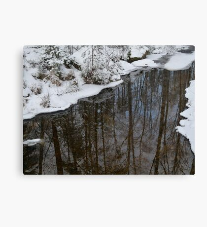 Clear Water and Snow Canvas Print