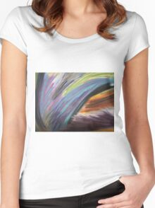 Tiger In The Mist Women's Fitted Scoop T-Shirt