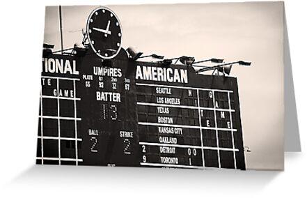 Wrigley Field Scoreboard - 12:46pm by ivwilsoniv