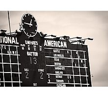 Wrigley Field Scoreboard - 12:46pm Photographic Print