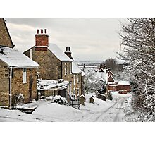 Snowscene, Brantingham village, East Yorkshire UK Photographic Print