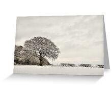 Snowy landscape, Elloughton, East Yorkshire, UK. Greeting Card