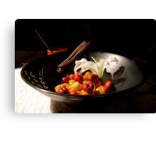 Lovely Lunch Canvas Print