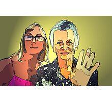 Mum n I Photographic Print