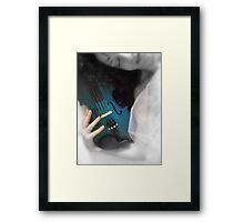 la donna con il violino blu © 2010 patricia vannucci Framed Print