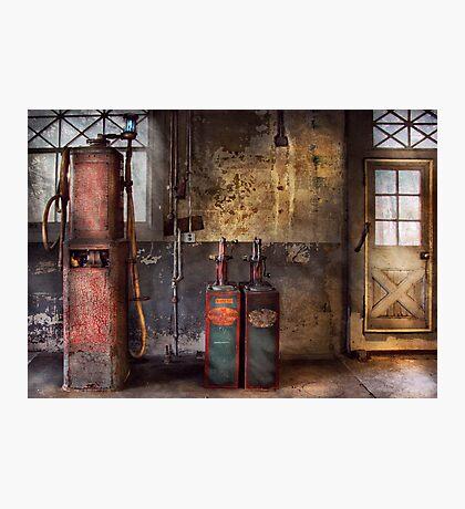 Car - Gas Pumps Photographic Print