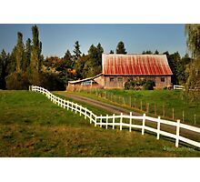 Farm in Langley Photographic Print