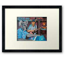 The Band Played Framed Print