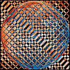 Modern Art IV - variation in Orange and Blue by rd Erickson