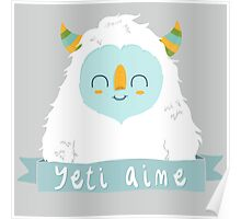 French Yeti Poster