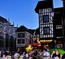 Troyes at Night by MaluC