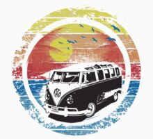 VW Kombi Sunset Design Baby Tee