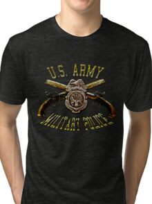 Military Police Crossed Pistols Tri-blend T-Shirt