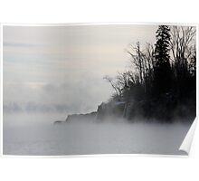 Fog Over Lake Superior Poster