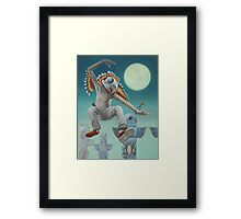 The Budgie-Shaman Framed Print