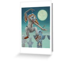 The Budgie-Shaman Greeting Card