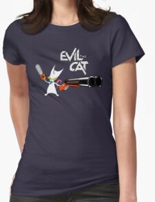 EVIL CAT Womens Fitted T-Shirt