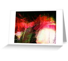 under current..... abstract under seascape Greeting Card