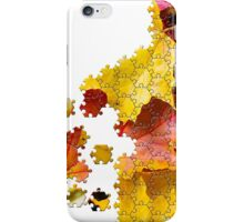 Autumn leaves puzzle-look image iPhone Case/Skin