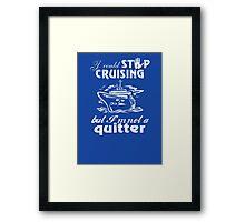Cruise Lovers Framed Print