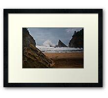 Simpsons Beach, Cape Arago, Oregon Framed Print
