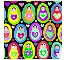 cute dolls Matryoshka Poster