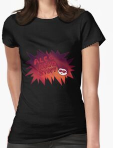 New alecandstuff Logo (Fiery Flames) Womens Fitted T-Shirt