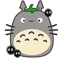 Kawaii Totoro & Susuwatari Photographic Print