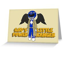 One of God's Little Power Rangers Greeting Card