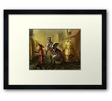 20 seconds before the attack Framed Print