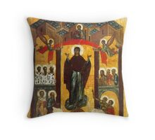 Old Russian icon The Intercession Throw Pillow
