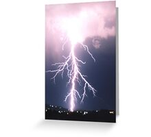 Storm over the Tamar Valley, Tasmania Greeting Card