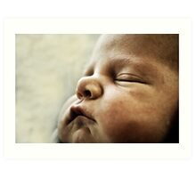 Sleeping Newborn Art Print