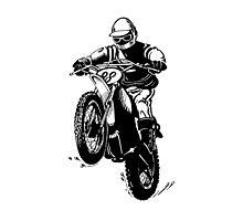 Yamaha Motocross racing by Elaine Bawden