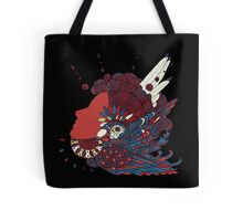 A girl with feathers in her hair Tote Bag