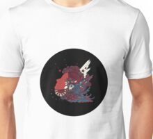 A girl with feathers in her hair Unisex T-Shirt