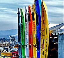 Kayaks II by Bob Wall
