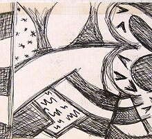 Panels of frenzy drawing by Hannah Kenny