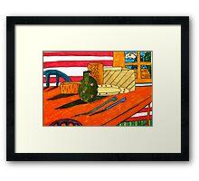 Color Tablescape Framed Print