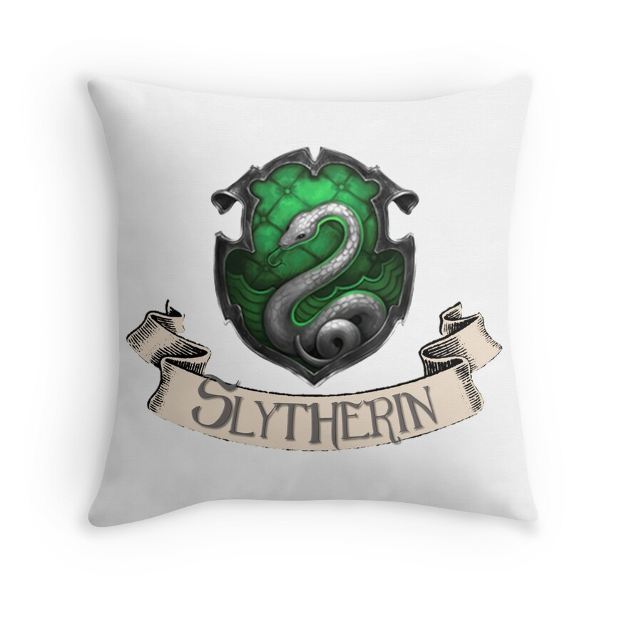 Slytherin Crest | Throw Pillow